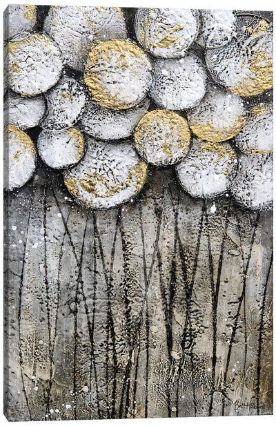 Bubble Trees in White Canvas Art Print