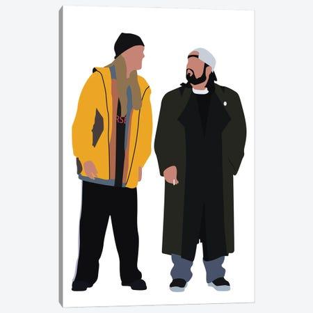 Jay And Silent Bob Canvas Print #BRJ20} by BoRiljana Art Print
