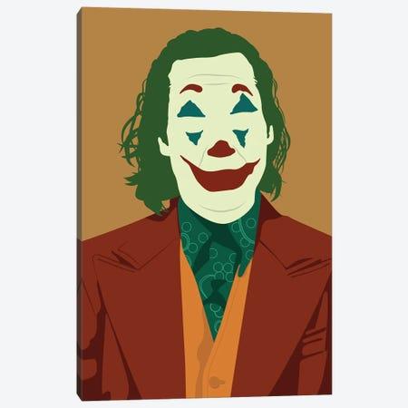 Joaquin Phoenix Joker Canvas Print #BRJ22} by BoRiljana Canvas Art Print