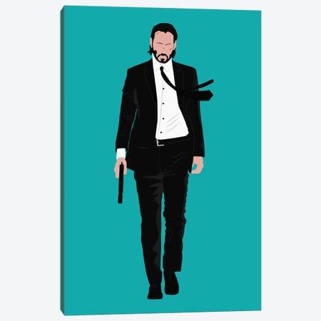 Keanu Reeves - John Wick Canvas Print #BRJ27} by BoRiljana Canvas Artwork