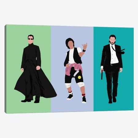 Keanu Reeve'S Famous Roles Canvas Print #BRJ28} by BoRiljana Canvas Print