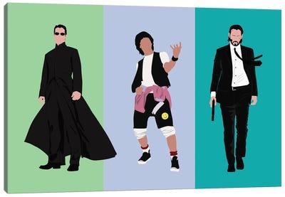 Keanu Reeve'S Famous Roles Canvas Art Print