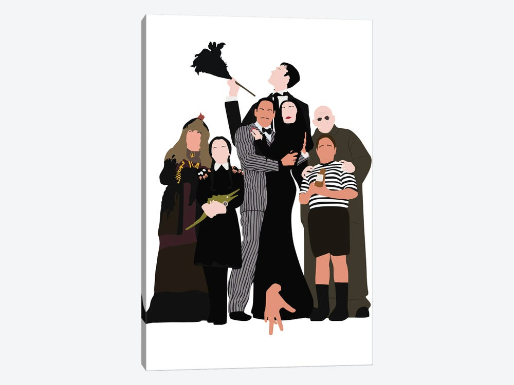 The Addams Family by BoRiljana 1-piece Art Print