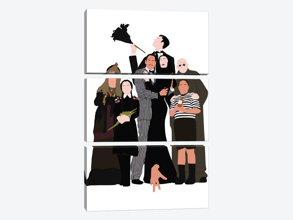 The Addams Family by BoRiljana 3-piece Canvas Art Print