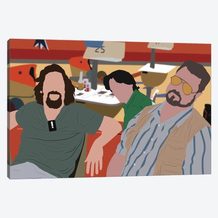 Big Lebowski, Dude, Walter And Donny Canvas Print #BRJ5} by BoRiljana Canvas Art Print