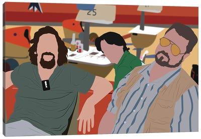 Big Lebowski, Dude, Walter And Donny Canvas Art Print