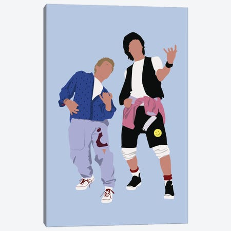 Bill And Ted Canvas Print #BRJ7} by BoRiljana Art Print