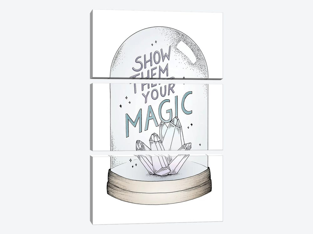 Show Them Your Magic by Barlena 3-piece Canvas Art Print