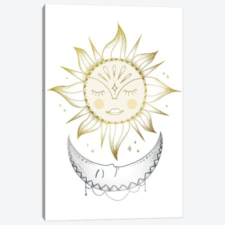 Sun And Moon Canvas Print #BRL102} by Barlena Canvas Print