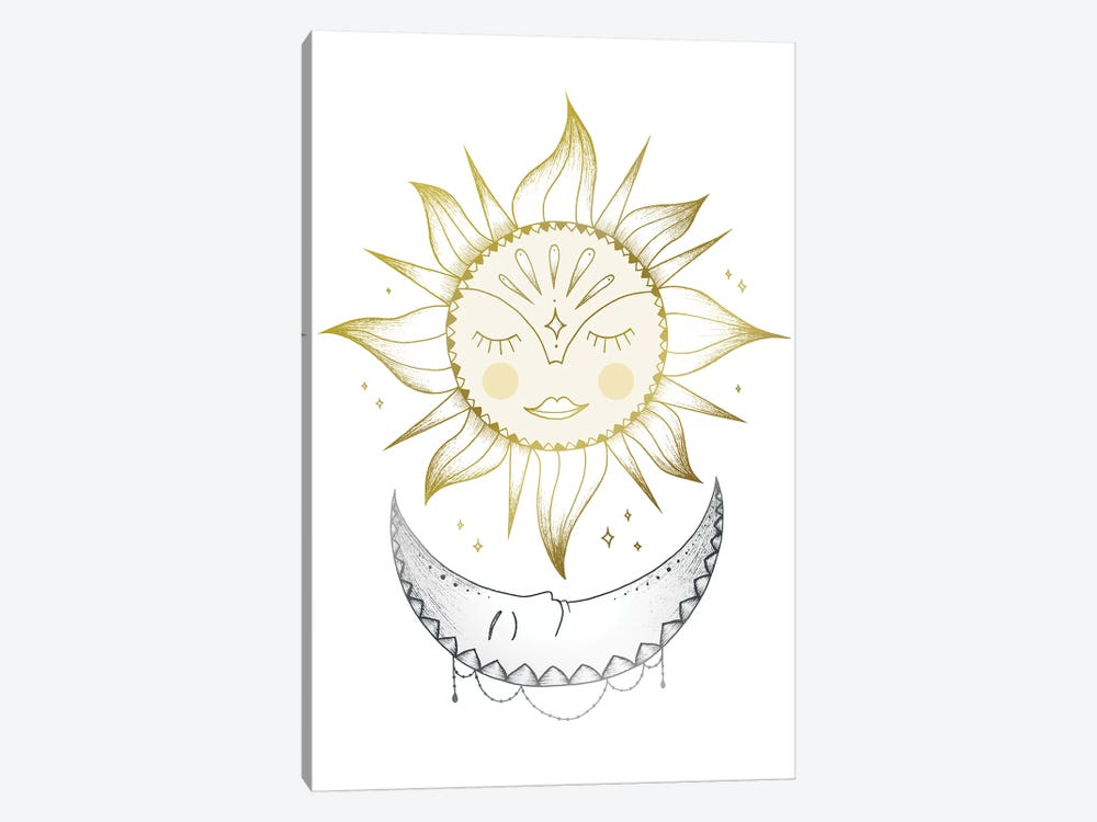 Sun And Moon by Barlena 1-piece Canvas Art