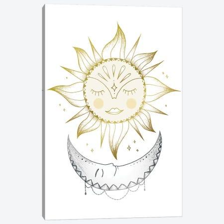 Sun And Moon Canvas Print #BRL102} by Barlena Canvas Print
