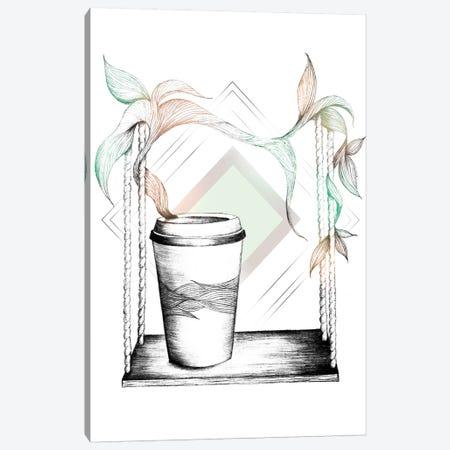 Coffee Break Canvas Print #BRL10} by Barlena Canvas Art