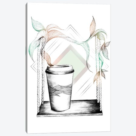 Coffee Break Canvas Print #BRL10} by Barlena Canvas Art