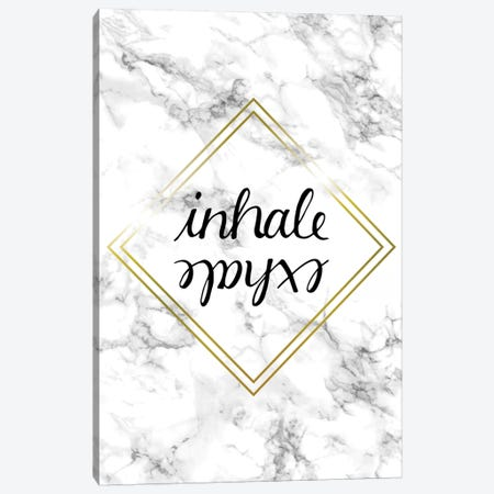 Inhale Exhale Canvas Print #BRL111} by Barlena Canvas Art