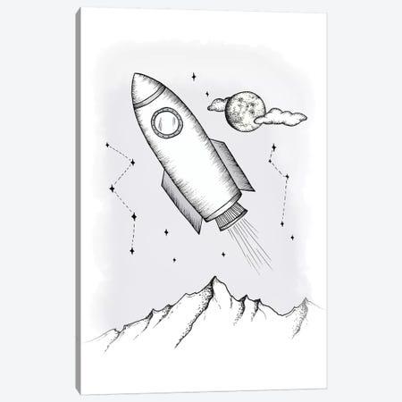 To the galaxy 3-Piece Canvas #BRL114} by Barlena Canvas Print