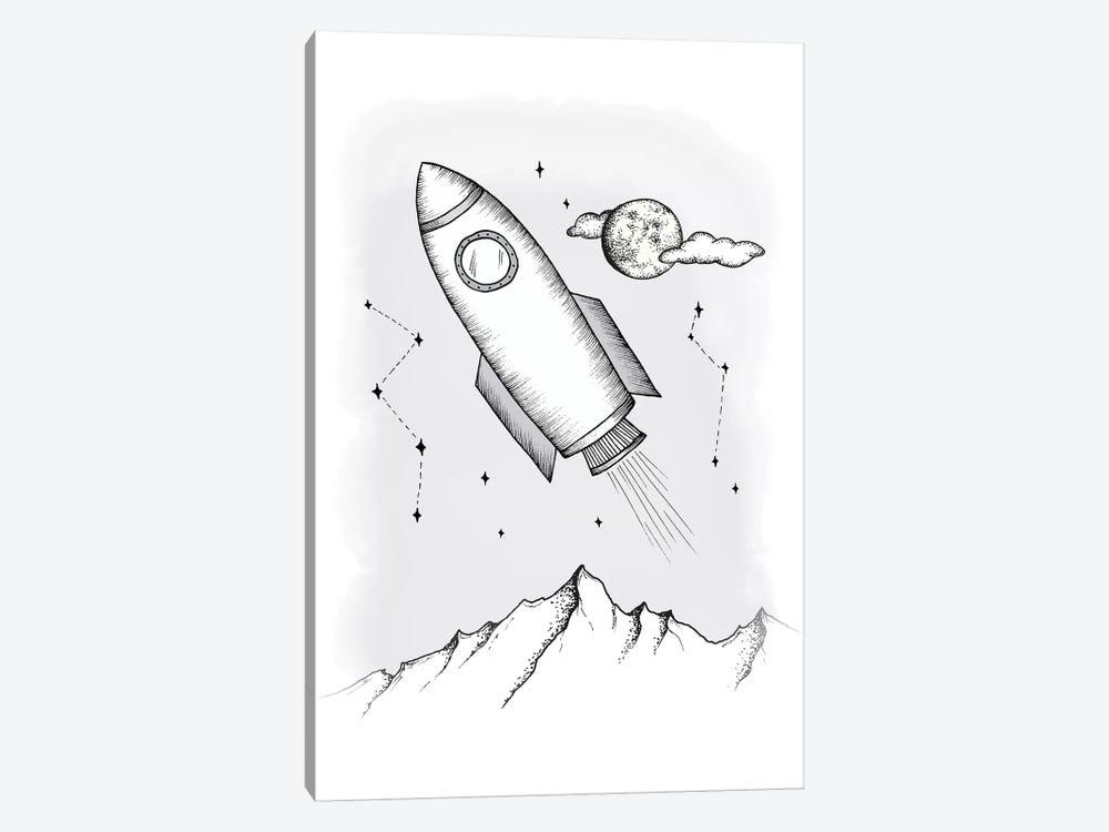 To the galaxy by Barlena 1-piece Canvas Art Print