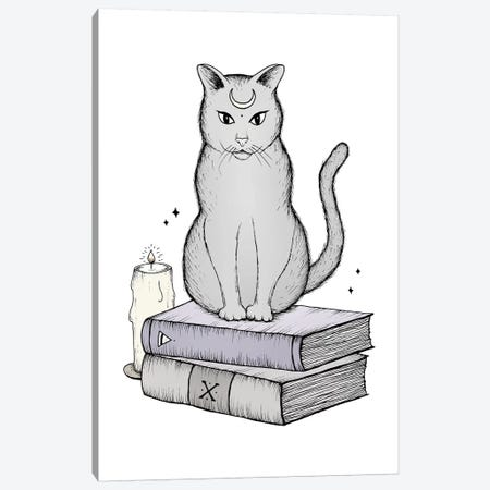 Witches Cat Canvas Print #BRL116} by Barlena Canvas Art Print