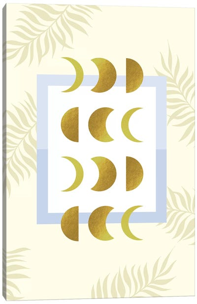 Golden Moon Phases Canvas Art Print