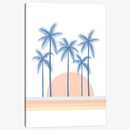 Summer Sunset Canvas Print #BRL134} by Barlena Art Print