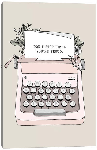Don't Stop Canvas Art Print