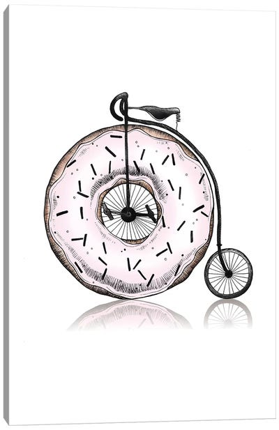 Donut Ride My Bicycle Canvas Art Print
