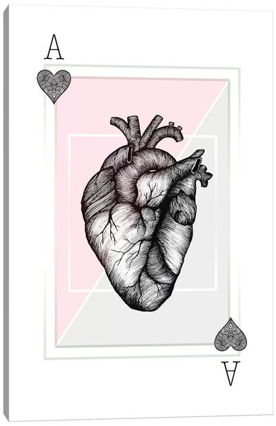 Ace Of Hearts Canvas Art Print