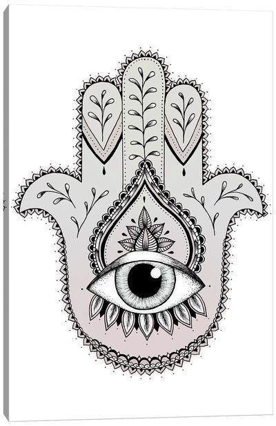 Hamsa Hand Canvas Art Print