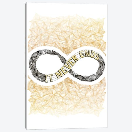 Infinity Gold Canvas Print #BRL28} by Barlena Canvas Print