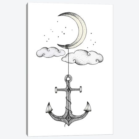 Anchor Your Dreams Canvas Print #BRL2} by Barlena Canvas Artwork