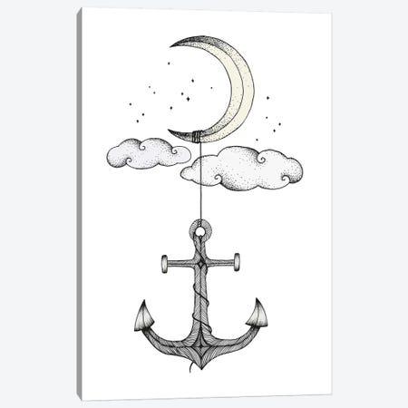 Anchor Your Dreams Canvas Print #BRL2} by Barlena Canvas Artwork