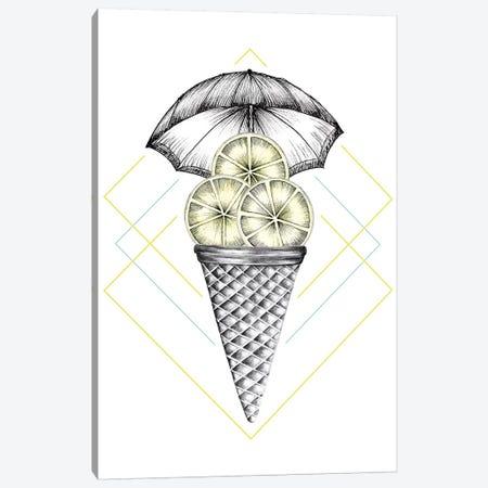 Lemon Ice Cream Canvas Print #BRL31} by Barlena Canvas Wall Art