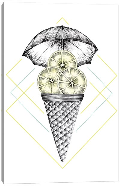 Lemon Ice Cream Canvas Art Print