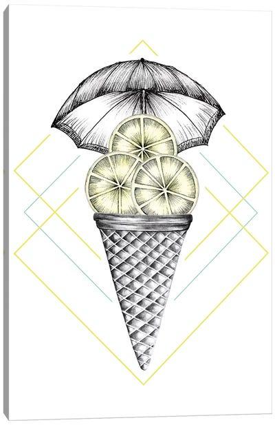 Lemon Ice Cream Canvas Art Print