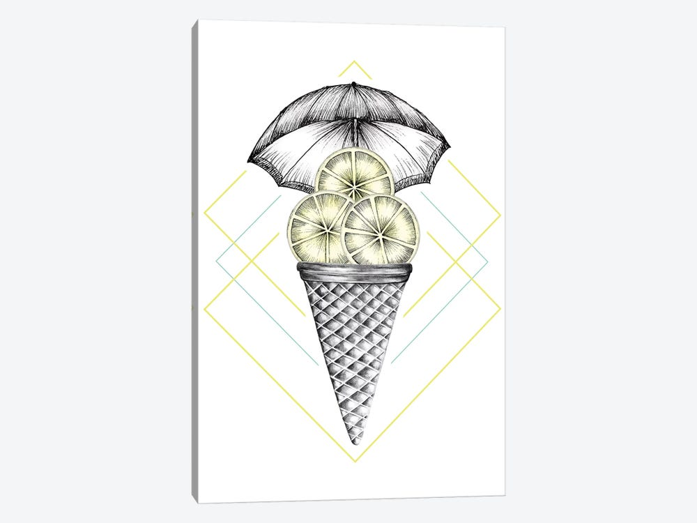 Lemon Ice Cream by Barlena 1-piece Canvas Art