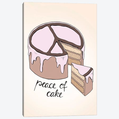 Peace Of Cake Canvas Print #BRL40} by Barlena Art Print