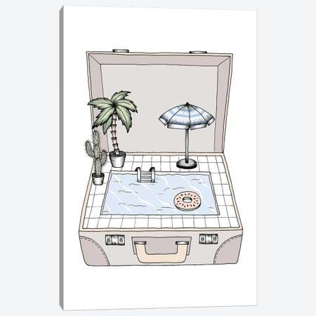 Pool To Go Canvas Print #BRL43} by Barlena Canvas Art Print