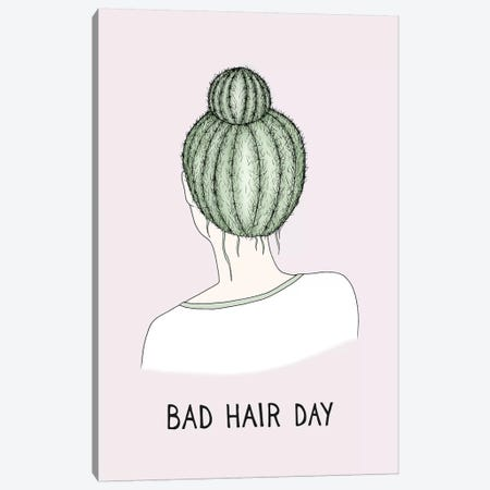 Bad Hair Day Canvas Print #BRL4} by Barlena Art Print