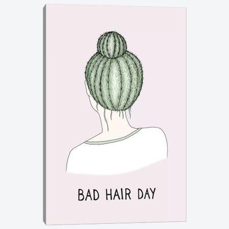 Bad Hair Day Canvas Print #BRL4} by Barlena Art Print