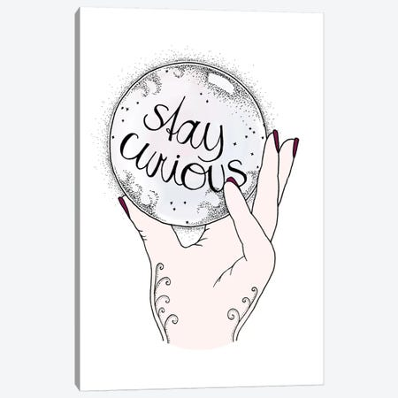 Stay Curious Canvas Print #BRL53} by Barlena Canvas Art