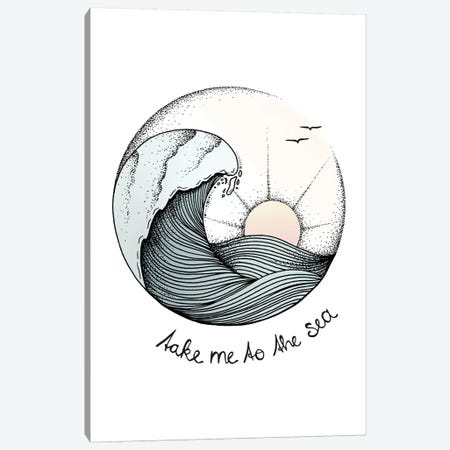 Take Me To The Sea Canvas Print #BRL56} by Barlena Art Print