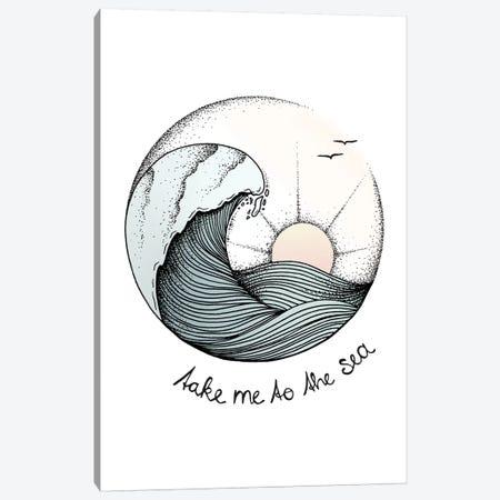 Take Me To The Sea Canvas Print #BRL56} by Barlena Art Print