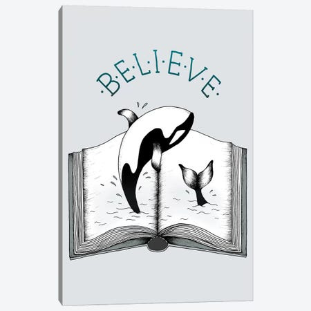 Believe Canvas Print #BRL5} by Barlena Canvas Print
