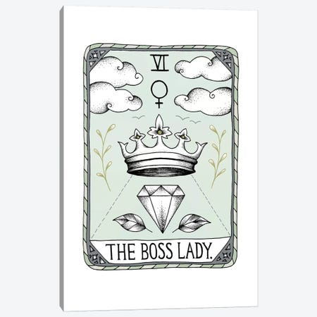 The Boss Lady Canvas Print #BRL60} by Barlena Canvas Art Print