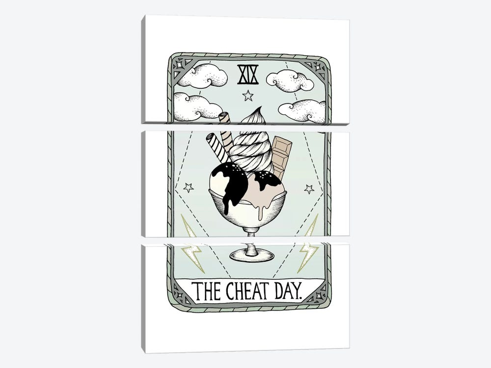 The Cheat Day by Barlena 3-piece Canvas Art