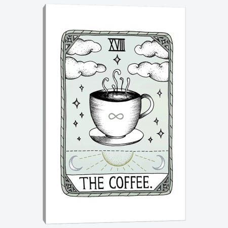 The Coffee Canvas Print #BRL63} by Barlena Art Print
