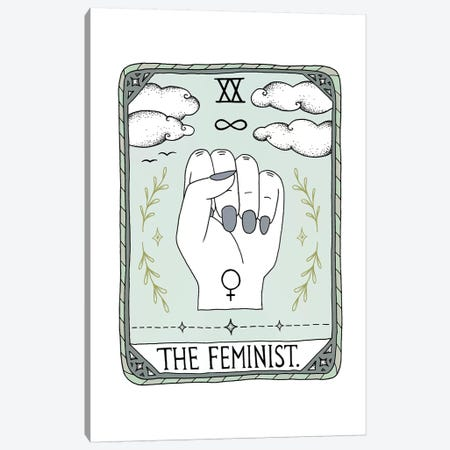 The Feminist Canvas Print #BRL65} by Barlena Canvas Artwork