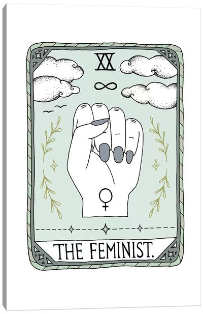 The Feminist Canvas Art Print