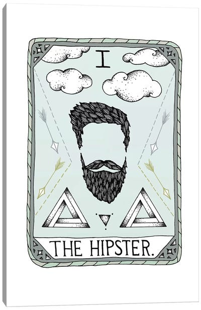 The Hipster Canvas Art Print