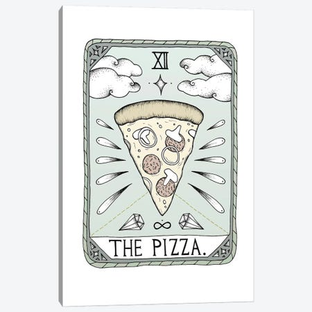 The Pizza Canvas Print #BRL74} by Barlena Canvas Print