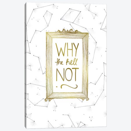 Why Not Canvas Print #BRL89} by Barlena Canvas Art Print